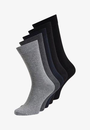 5 PACK - Sokken - dark grey melange