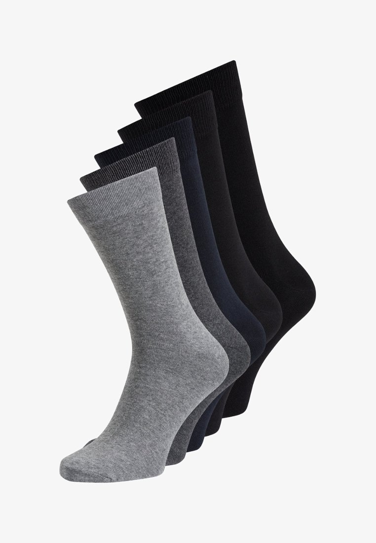 Jack & Jones - 5 PACK - Strumpor - dark grey melange
