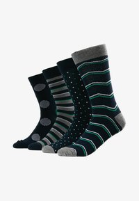 Jack & Jones - JACBIG DOTS SOCKS 4 PACK - Socks - navy blazer