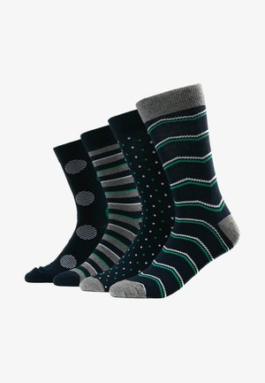 JACBIG DOTS SOCKS 4 PACK - Sukat - navy blazer