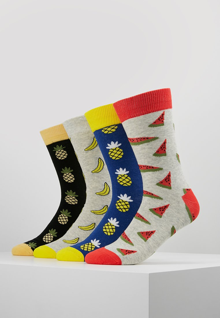 Jack & Jones - JACMIXFRUITSOCKS 4 PACK  - Socks - ochre/puppy red/surf the web/cyber yellow