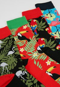 Jack & Jones - JACANIMALS SOCKS 4 PACK  - Sokken - fieryred/black/fieryred/divapink - 2