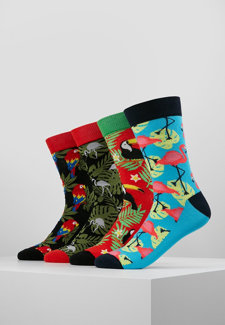 Jack & Jones - JACANIMALS SOCKS 4 PACK  - Sokken - fieryred/black/fieryred/divapink