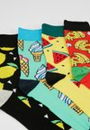 Jack & Jones - JACEATING SOCKS 4 PACK  - Strumpor - black/cyberyellow/fieryred/springbud