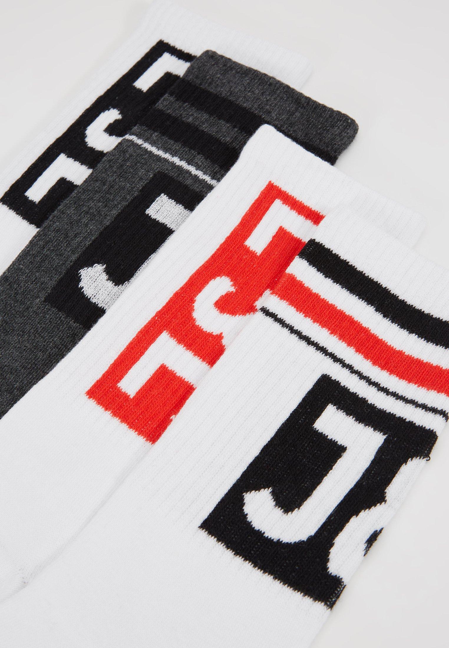 Dark Red white fiery Tennis Grey black PackChaussettes Logo Melange Jackamp; Jones Block 4 bf6Y7gy
