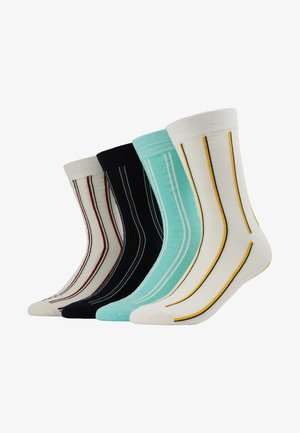 4 PACK - Calcetines - white/black/light green