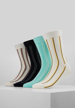 4 PACK - Ponožky - white/black/light green