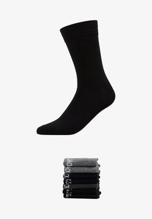 7 PACK - Strumpor - black/grey/light grey/navy
