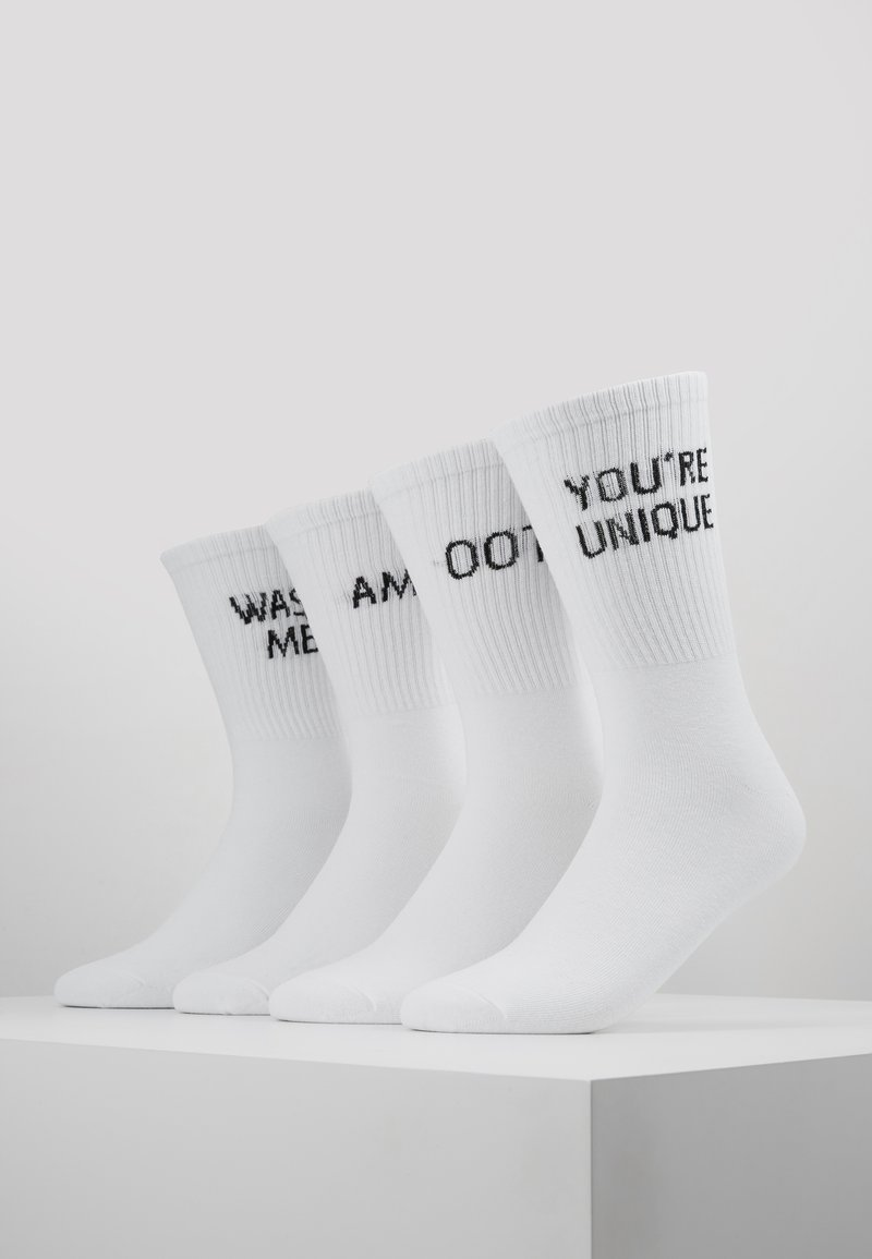 Jack & Jones - JACTENNISSOCKS LOGO 4 PACK - Calcetines - white