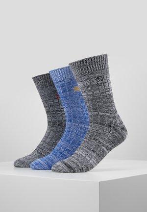JACSUPER WINTER SOCK 3 PACK - Ponožky - black/dark grey melange/rosin