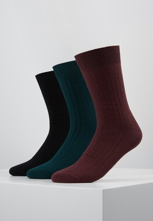 3PACK - Socks - black/sea moss/port royal