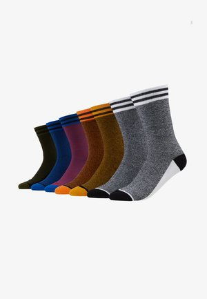 JACBLEND SOCKS 7 PACK - Chaussettes - fiery red/rifle green/black