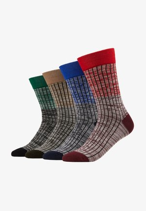 JACHAFT TWISTED SOCKS 4 PACK - Calcetines - rio red/surf the web - verdant gree