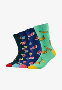 Jack & Jones - 4 PACK JACHAPPY FOOD SOCK  - Chaussettes - hot pink/deep teal /piquant green - 1