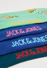 Jack & Jones - 4 PACK JACHAPPY FOOD SOCK  - Chaussettes - hot pink/deep teal /piquant green - 2
