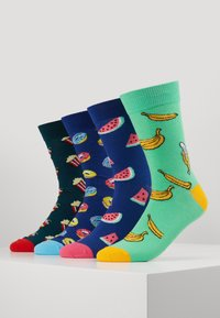 Jack & Jones - 4 PACK JACHAPPY FOOD SOCK  - Chaussettes - hot pink/deep teal /piquant green - 0