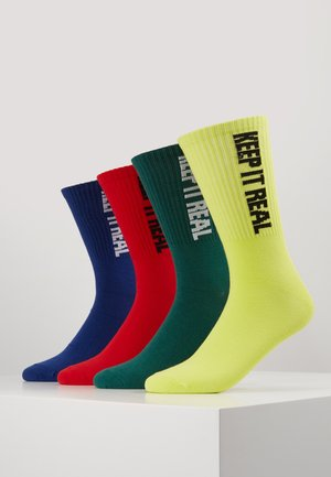 JACSTATEMENT SOCK 4 PACK - Sokken - verdant green/surf the web