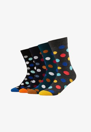 JACDOTS SOCK 4 PACK - Calcetines - sea moss/black/navy blazer