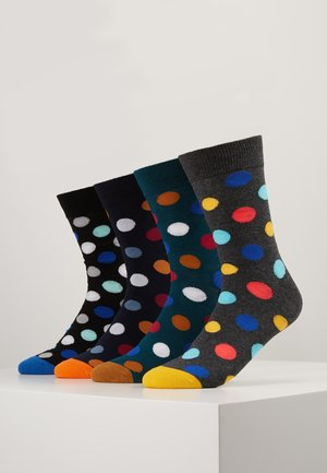 JACDOTS SOCK 4 PACK - Ponožky - sea moss/black/navy blazer