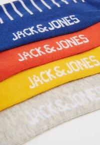Jack & Jones - JACMULTI STRIPE SOCK 4 PACK - Calcetines - yolk yellow/light grey melange - 2