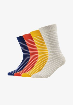 JACMULTI STRIPE SOCK 4 PACK - Calcetines - yolk yellow/light grey melange