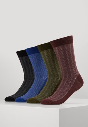JACBASIC SOCK 4 PACK - Sokken - black/forst night - surf the web