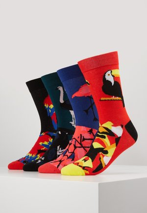JACMIX ANIMALS SOCK  4 PACK - Skarpety - black/firey red/deep teal/surf