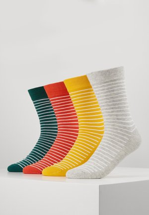 JACWIND SOCK 7 PACK - Socks - black/fir - navy blazer - chilli