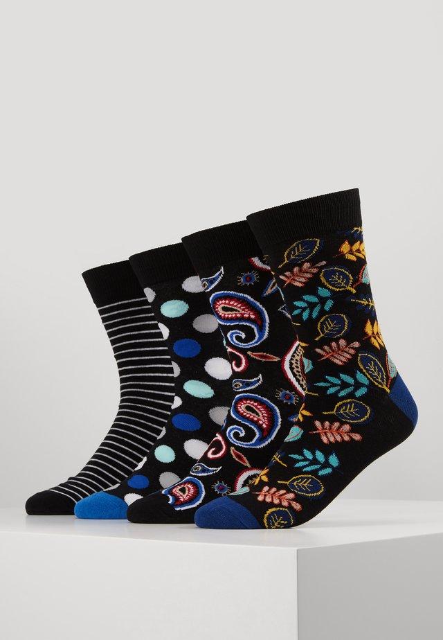 JACMIXED UP SOCKS 4 PACK - Socks - rio red/black