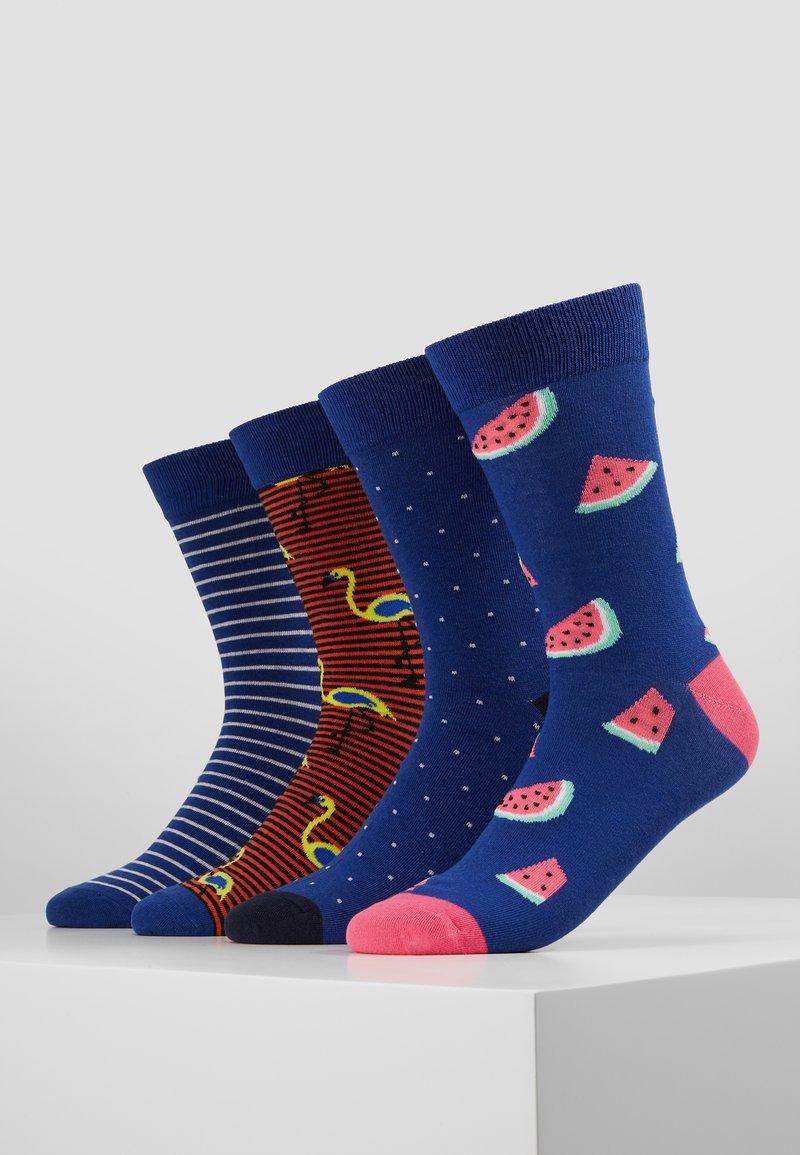 Jack & Jones - JACBLUE MIX SOCKS 4 PACK - Ponožky - pink/black