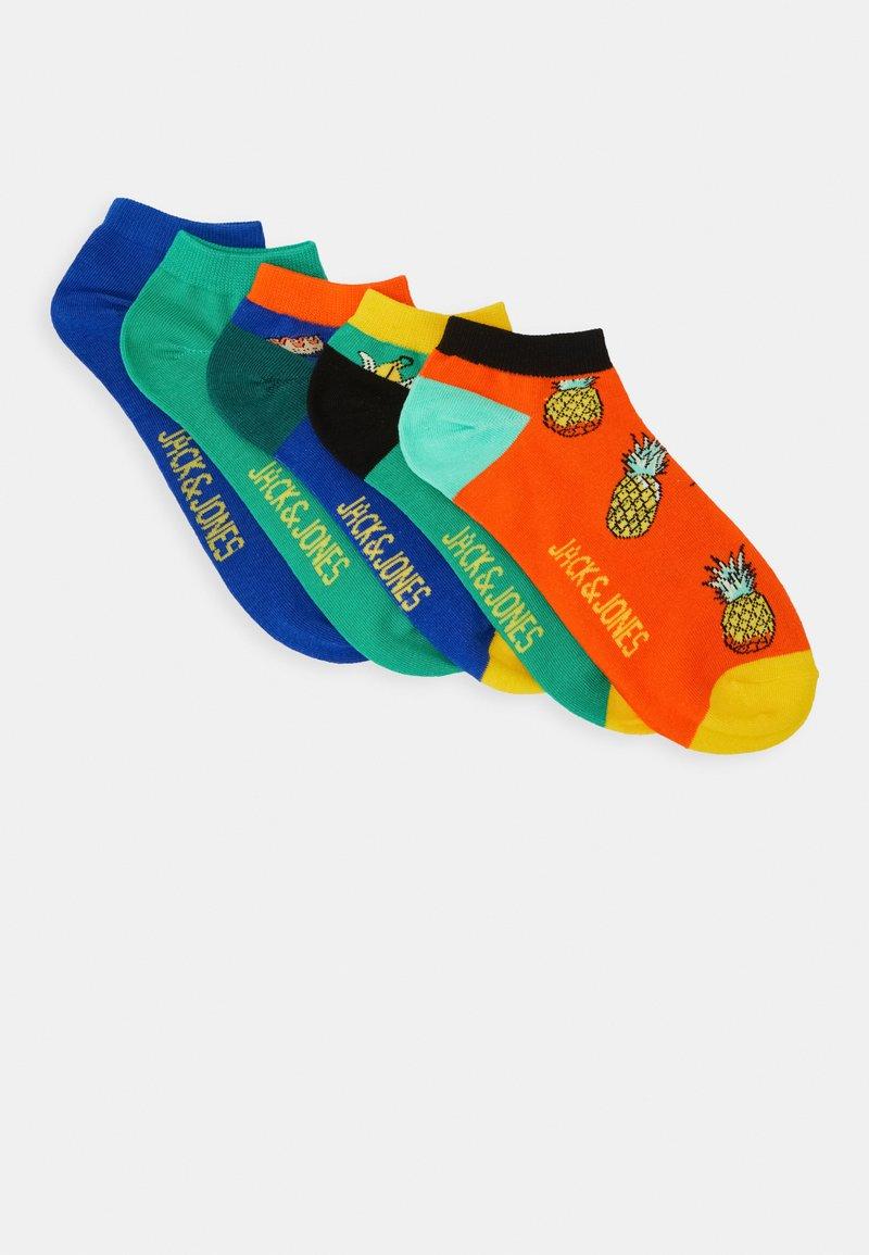 Jack & Jones - JACFOOD SHORT SOCK 5 PACK - Sportovní ponožky - surf the web/blarney