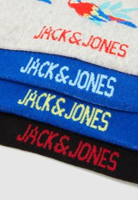 Jack & Jones - JACANIMALS SUMMER SOCK 4 PACK - Ponožky - light grey melange/black/victoria - 2