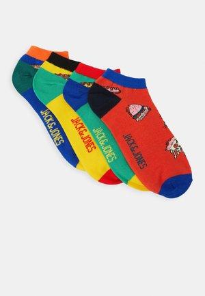 JACFAST FOOD SHORT SOCK 4 PACK - Sportovní ponožky - blarney/yolk yellow/chili/surf
