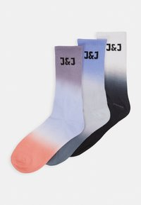 Jack & Jones - JACDIP DYED TENNIS 3 PACK - Socken - surf the web/navy blazer /black - 0