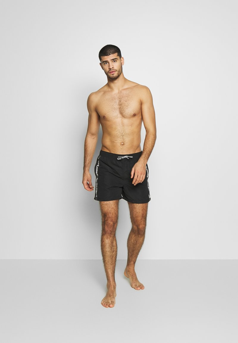 Jack & Jones - IARUBA TAPE - Shorts da mare - black
