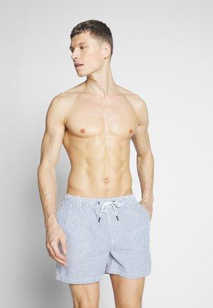 IARUBA SWIMSHORTS SEERSUCKE - Swimming shorts - navy blazer