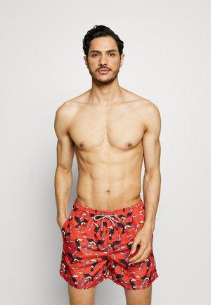 ARUBA SWIM 2 PACK - Swimming shorts - black/hot coral
