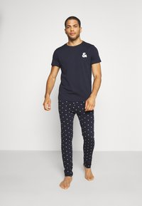 Jack & Jones - JACAND LOUNGEWEAR SET - Pyjama - navy blazer