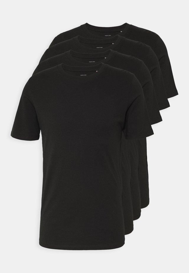 JACBASIC TEE CREW NECK 4 PACK - Maglia del pigiama - black