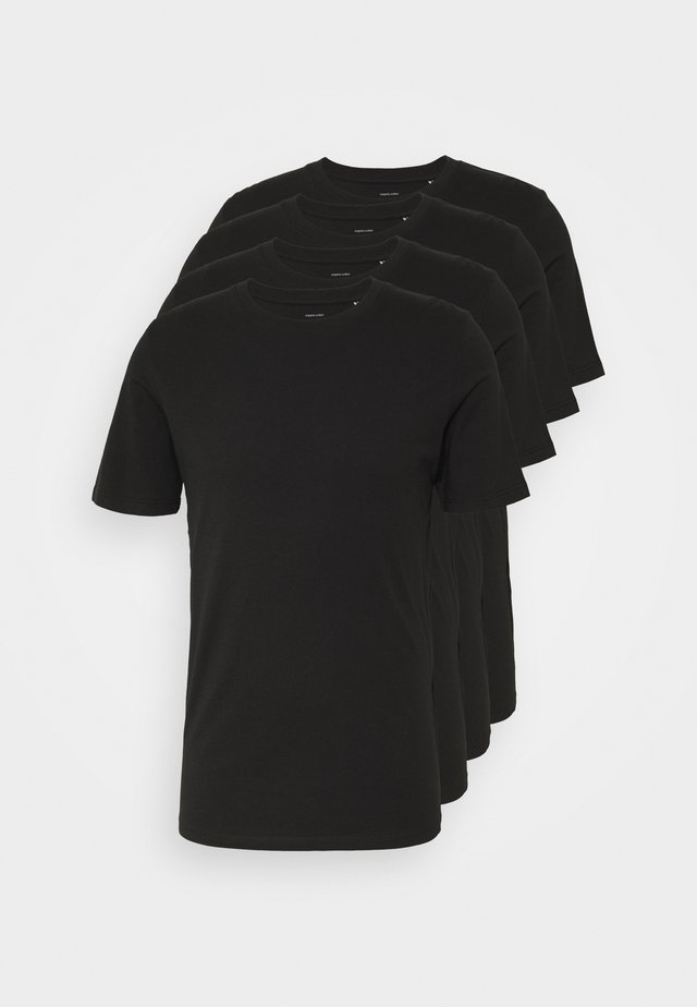 BASIC TEE CREW NECK 4 PACK - Pyjama top - black