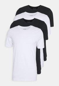 Jack & Jones - JACBASIC TEE CREW NECK 4 PACK - Pyjamasoverdel - white/black - 4