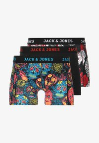 Jack & Jones - JACANTON 3 PACK - Shorty - black/scarlet sage - 5