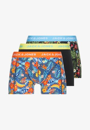 JACCRAZY FLOWER TRUNKS 3 PACK - Onderbroeken - fiery red/black/riffle green