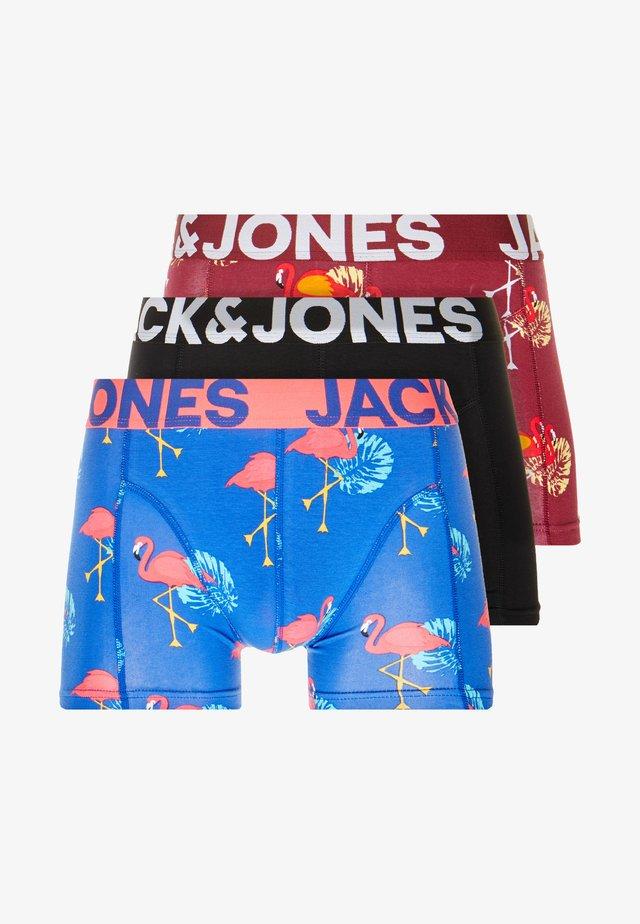 JACCHRIS  TRUNKS 3 PACK  - Onderbroeken - blue/dark red/black