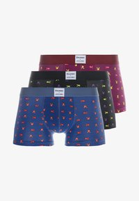 Jack & Jones - JACBONNIE TRUNKS 3 PACK - Shorty - black/ensign blue/rhodoeron - 3