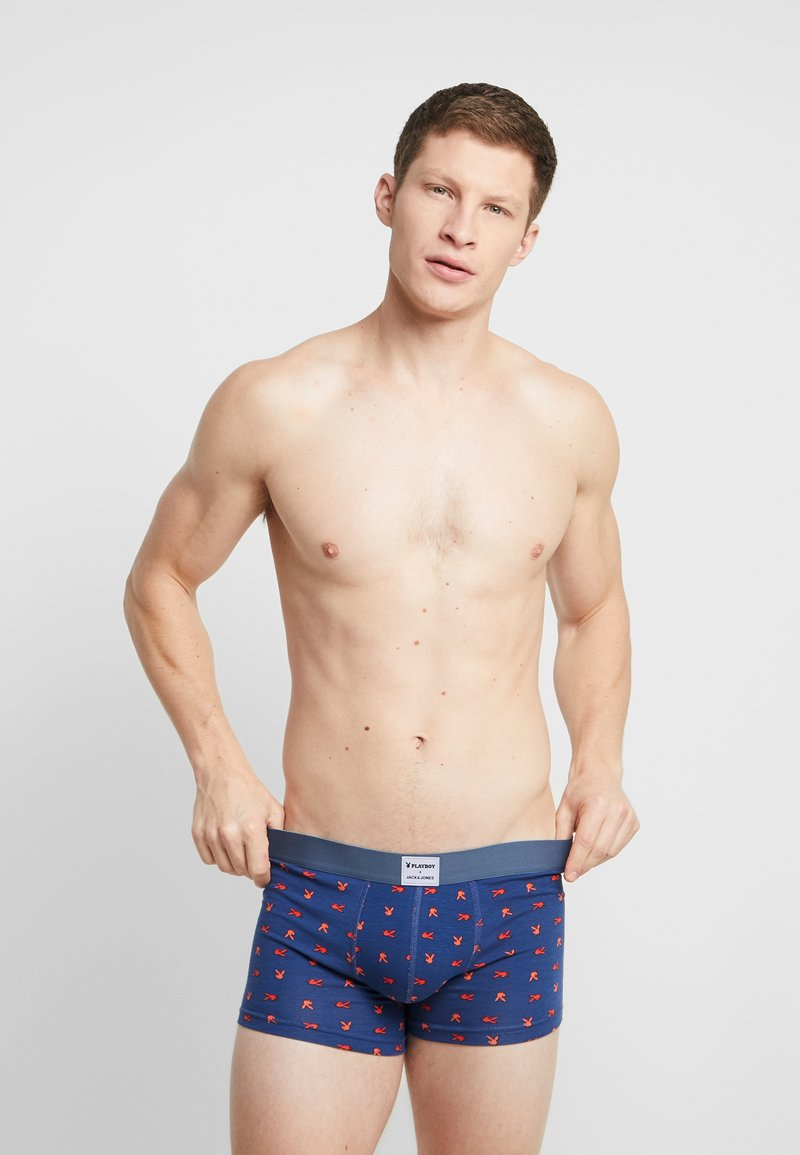 Jack & Jones - JACBONNIE TRUNKS 3 PACK - Shorty - black/ensign blue/rhodoeron