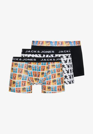 JACHUGH TRUNKS 3 PACK - Boxerky - white/black /yellow