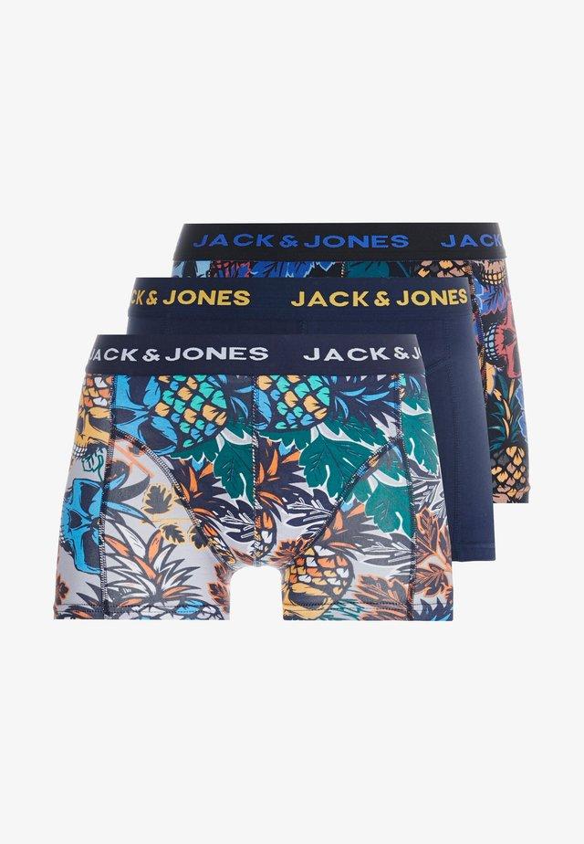 JACSKULLPINE TRUNKS 3 PACK - Underbukse - navy blazer/black/mirage gray