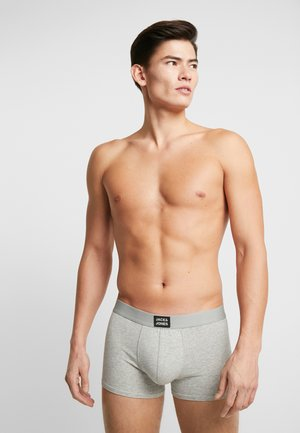 JACBASIC PLAIN TRUNKS 4 PACK - Shorty - black/medieval blue/grey melange