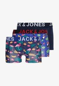 Jack & Jones - JACSUMMER TROPIC ANIMALS TRUNKS 3 PACK - Onderbroeken - surf the web/medieval blue - 3